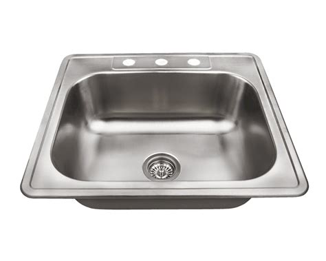 single bowl kitchen sink top mount us1038t single bowl topmount stainless steel sink