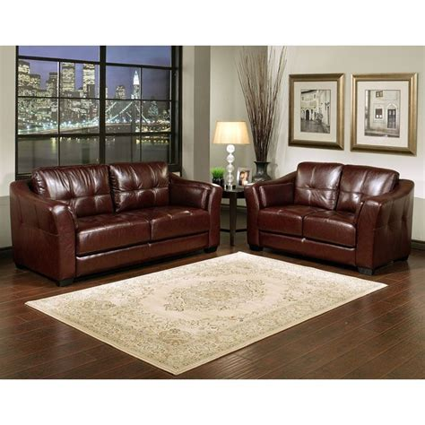 burgundy leather sofa set paros burgundy leather loveseat and sofa set dcg stores