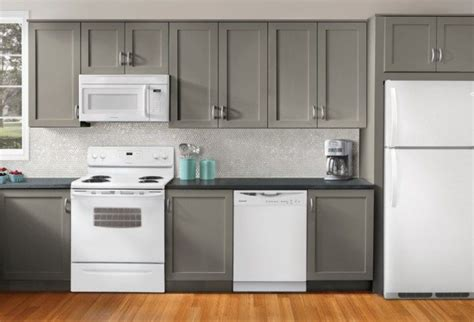 black and white appliance reno kitchen ideas decorating with white appliances painted