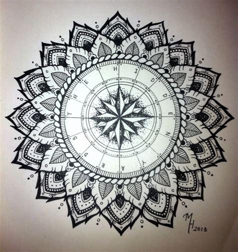tattoo compass mandala mandala designs morgangatekeeper compass mandala i