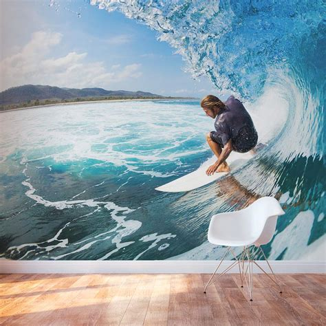 Tropical Wall Mural surfing wall mural surfing wall decal wallums