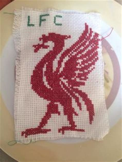 liverpool knitting patterns liverpool fc liver bird cross stitched card at www
