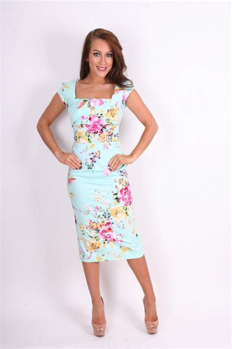 dresses for company the pretty dress company cara mint seville floral pencil