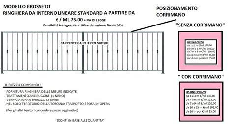 ringhiera balcone prezzi ringhiere prezzi on line ringhiere recinzioni