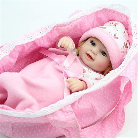 Baby Alive 11 Vinyl Mini Newborn Baby Dolls Boy Boneka Gift npk mini reborn baby doll 10 inch vinyl baby alive toys gift basket pillow blankets