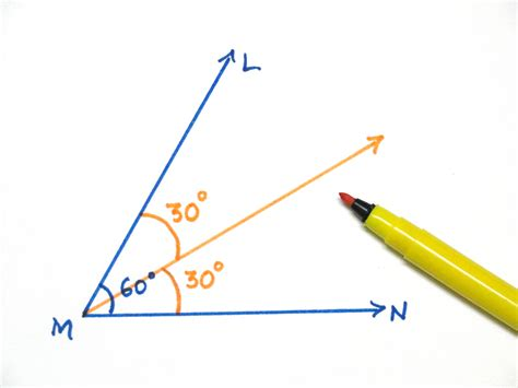 Drawing 60 Degree Angle by How To Construct A 30 Degrees Angle Using Compass And