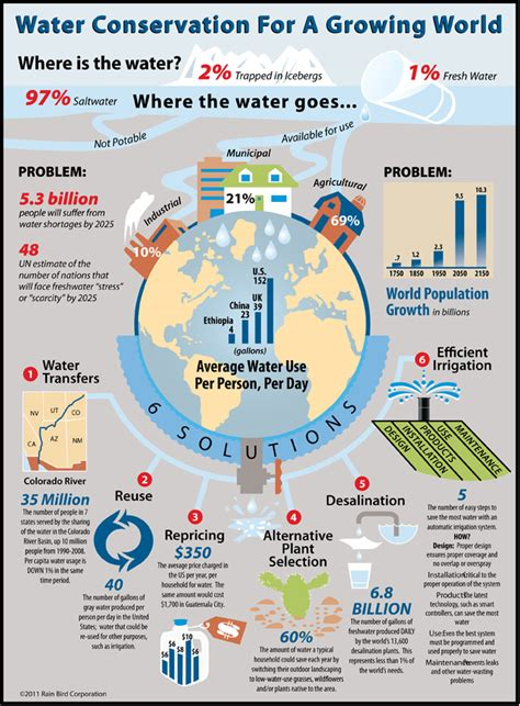 tips and solution infographic water conservation for a growing world rain