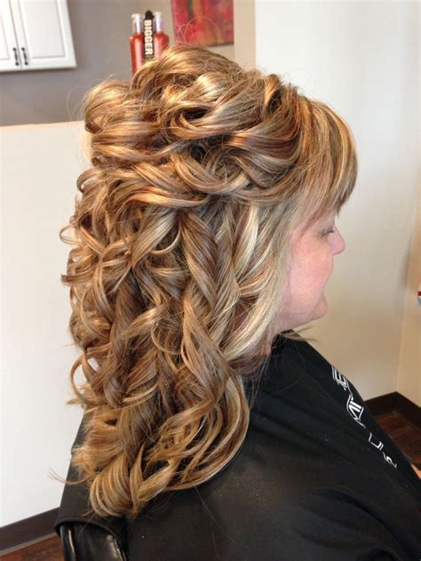 curly partial up how hair partial updo formal wedding prom hairstyles long