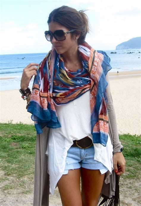 summer outfit ideas  scarf glam radar
