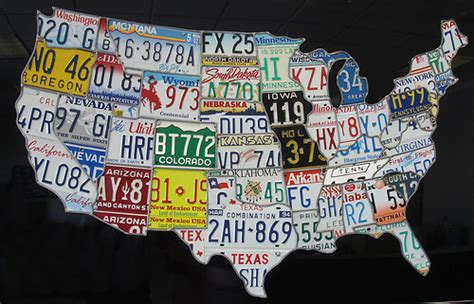 usa map license plates usa license plate map flickr photo