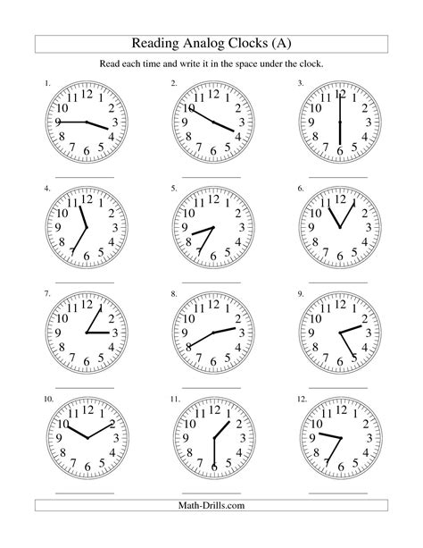 clock worksheets by the minute 15 best images of telling time worksheets by 5 minutes
