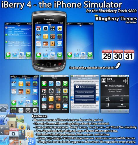 iphone themes for bb iberry 4 v1 3 the iphone simulator for 9800 torch themes