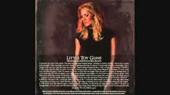 Carrie underwood quot little toy guns quot lyrics on the picture on the