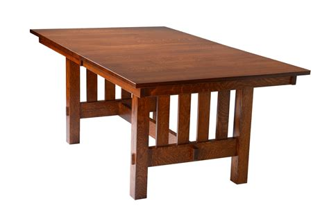 Heavy Dining Room Table heavy mission trestle table craft furniture