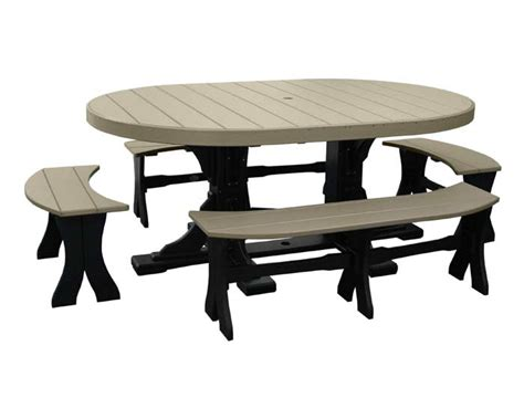 4x6 oval dinner table with benches patio table sets