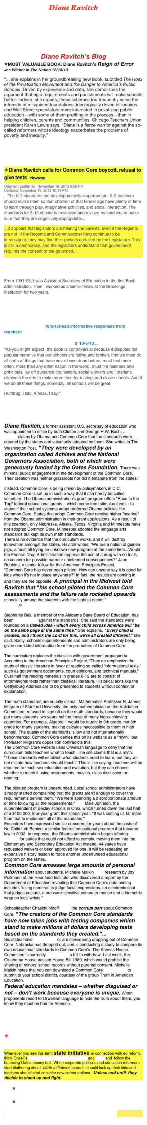 Buku Standard Readings For Senior Middle Schools Revised Edi pearson conglomerate diane ravitch blogs web