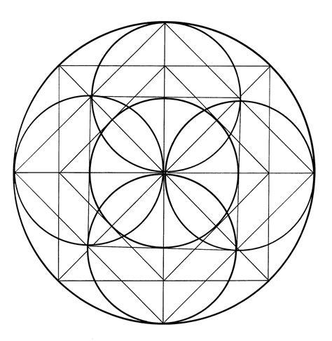 figuras geometricas hechas con compas mandalas para pintar dibujo medieval alemania