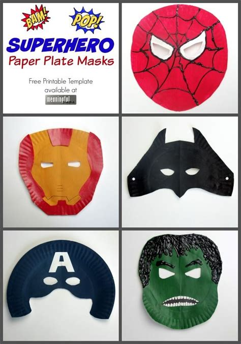 How To Make A Paper Plate Mask - paper plate masks iron fils et h 233 ros