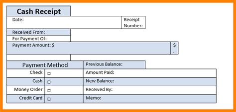 payment slip template 6 payment receipts sales slip template