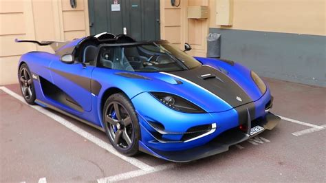 blue koenigsegg one 1 koenigsegg one 1 in matte blue captured in monaco