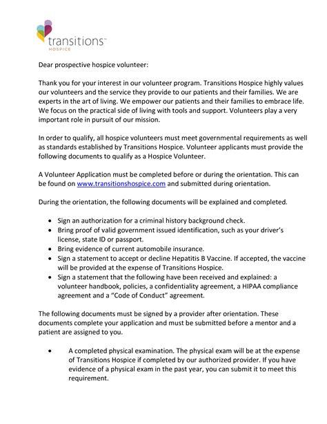 volunteer job application letter sample templates
