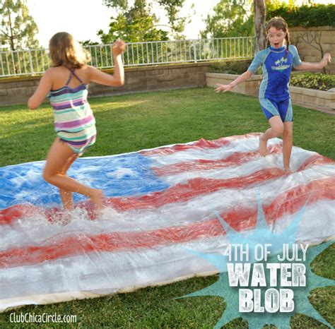 backyard water fun 4th of july party water blob for kids