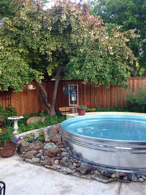 backyard pool ideas on a budget wanna stay cool diy a stock tank pool the budget decorator