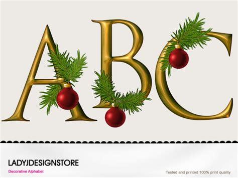 large printable christmas letters digital decorative gold christmas alphabet decorative gold