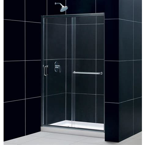 Shower Base And Doors Dreamline Showers Infinity Z Sliding Shower Door
