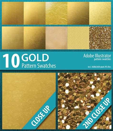 adobe illustrator make pattern swatches 10 gold foil and sparkle pattern swatches adobe