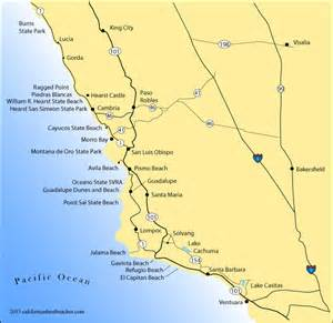 map of california coastline best beaches california map