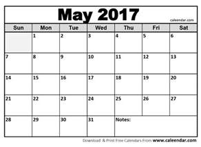 Printable Calendar Template Pdf by May 2017 Calendar Pdf Calendar Template Letter Format
