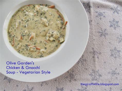 the giraffe vegetarian version of olive garden s chicken gnocchi soup