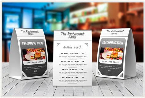 Great Designs For Your Next Table Tent Design Clubflyers Magazine Articles On Design Table Top Menu Template