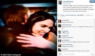 nikki bella first husband nikki reed gets hug from pal after split with husband paul