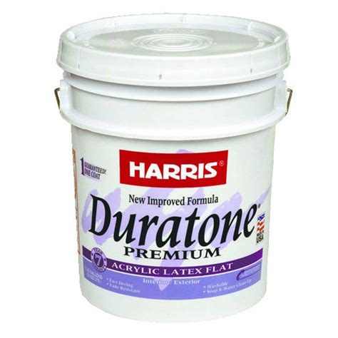 5 gallon white exterior paint harris duratone 5 gal flat acrylic white interior