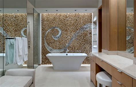 stunning mosaic walls featuring bits and pieces of glass
