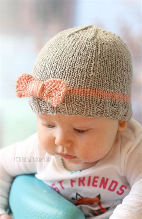 knit baby hat pattern free easy knit bow baby hats window