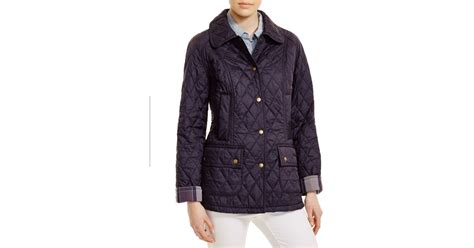 Barbour Quilted Beadnell by Barbour Summer Beadnell Quilted Jacket In Blue Lyst