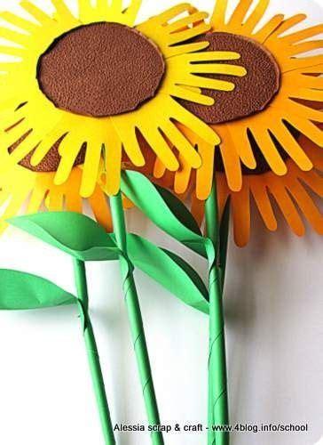 fiori di girasole fare fiori di carta grandi grandi un mazzo di girasole