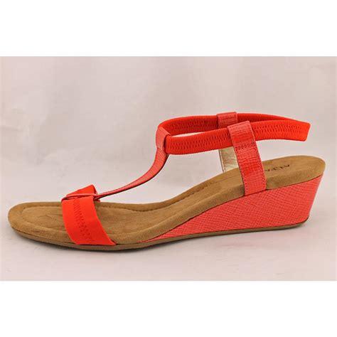 orange wedge sandals alfani voyage womens size 7 orange wedge sandals shoes used