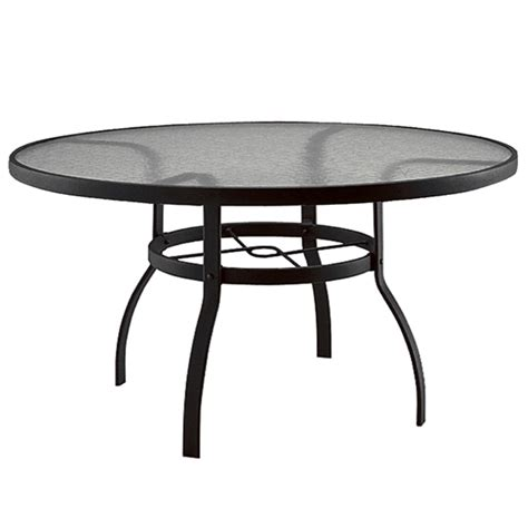 Woodard Deluxe 60 Inch Round Glass Top Dining Table 827360w 60 Inch Outdoor Dining Table