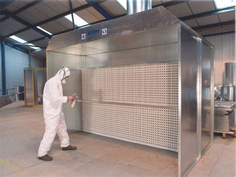 spray paint booth 2 2m 7 2 quot 1 x 1 5kw dry filter spray booth airflow