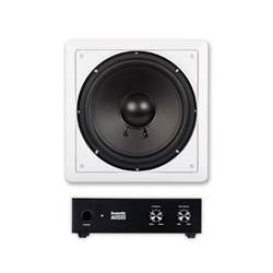 home audio subwoofer acoustic audio iws10 in wall 10 quot passive subwoofer and