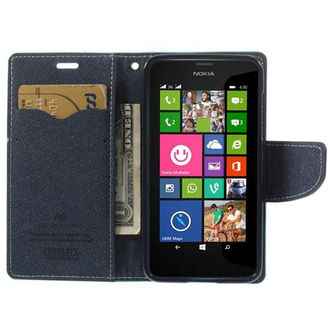 Funda Billetera Nokia Lumia 630 635 Fancy Cian | funda billetera nokia lumia 630 635 fancy cian