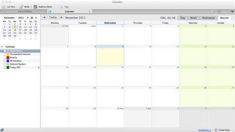 Calendar Programs Lightning 1 0 Calendar Add On For Thunderbird The