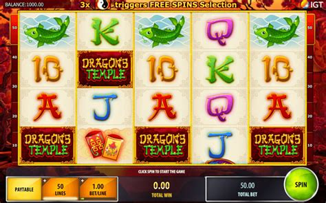 play dragons temple  slot igt casino slots