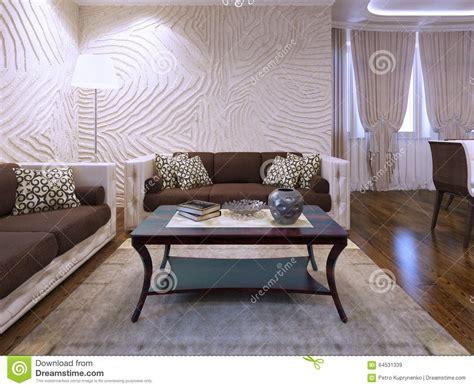 schöne wohnzimmer wände gold braunes wohnzimmer