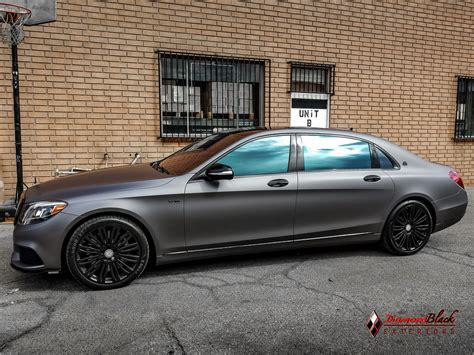 mercedes maybach s600 v12 wrapped in charcoal matte