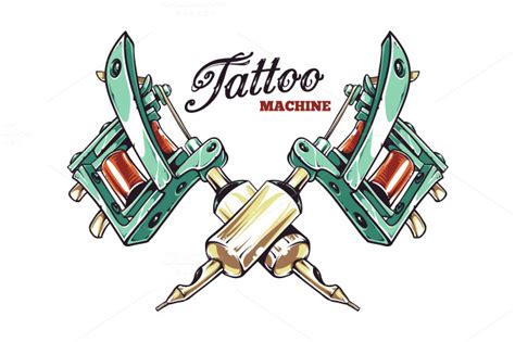 tattoo gun logo tattoo machine illustrations on creative market